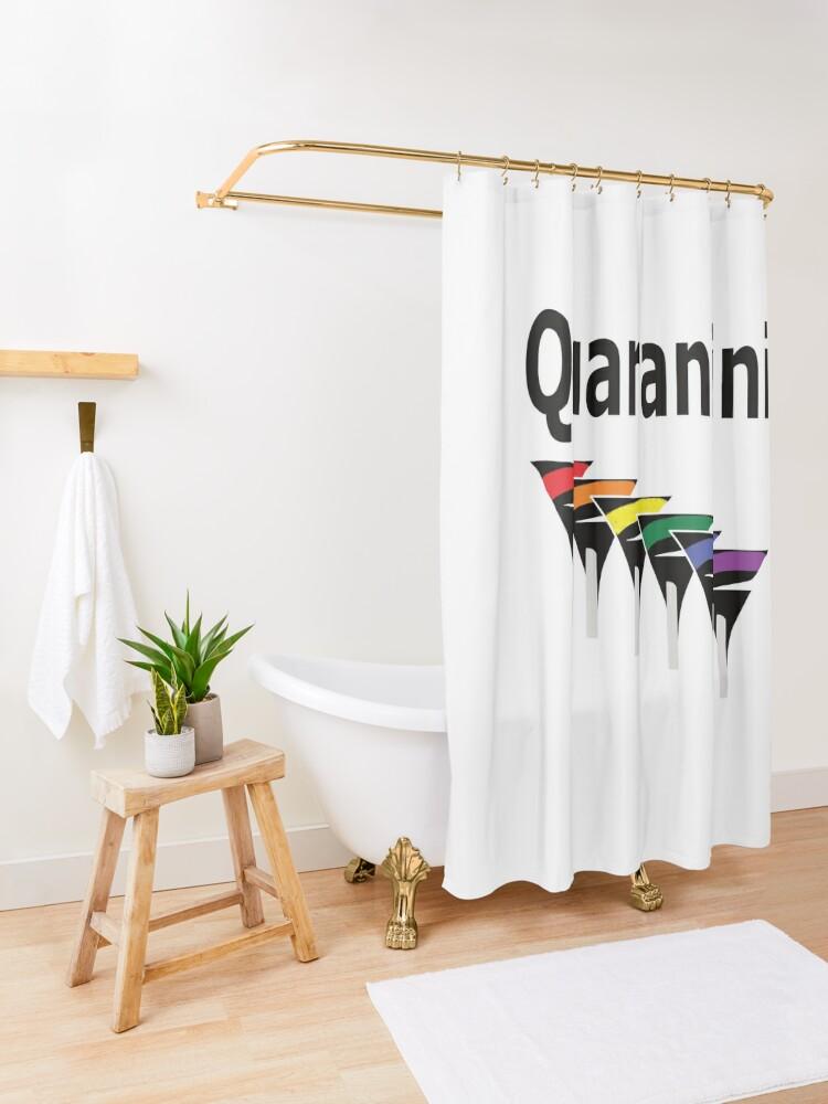Alternate view of LGBT Quarantini Shower Curtain