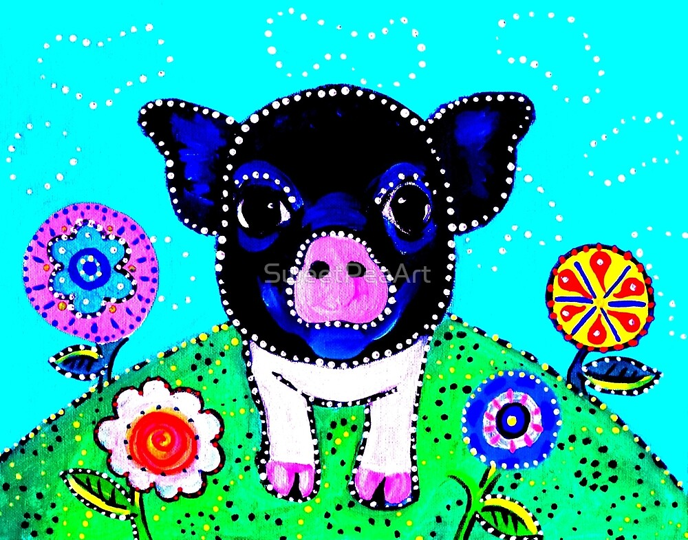 AnnaBelle The Sassy Little Pig by SweetPeaArt