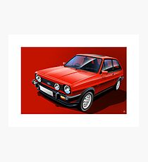 Ford Fiesta XR2 Poster Illustration Photographic Print