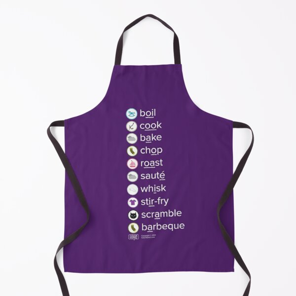 Let's WOODEN HOOK cook! in Eggplant Apron