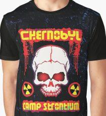 Chernobyl Strontium Skull Graphic T-Shirt