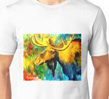 Abstract Moose Unisex T-Shirt