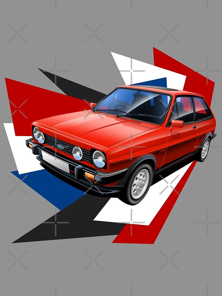 Ford Fiesta XR2 Graphic Art by RJWautographics