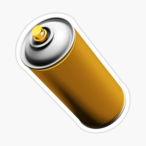 Golden Spray Can Pattern Sticker