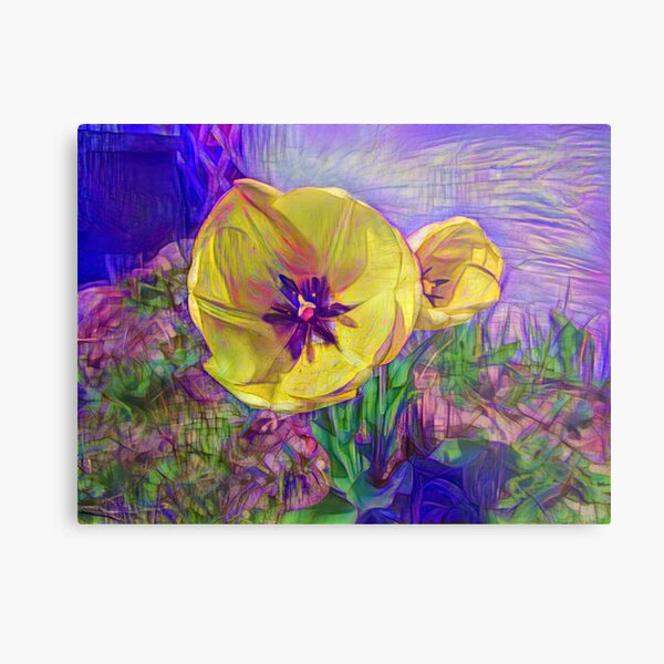042421dd1 A Flower has the Power Metal Print