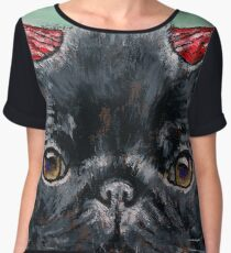 Devil Pug Women's Chiffon Top