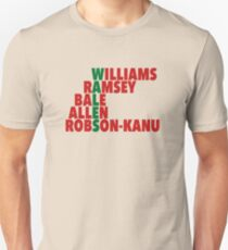WALES spelt using player names (Euro 2016) T-Shirt