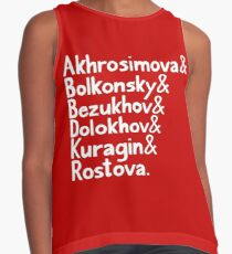 War and Peace and Ampersand - White Text Contrast Tank