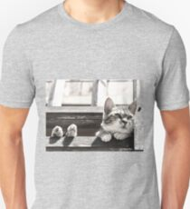 Loulou perched balcony_1210483 Unisex T-Shirt