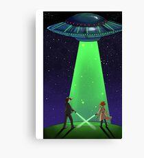 The X-Files / UFO Canvas Print