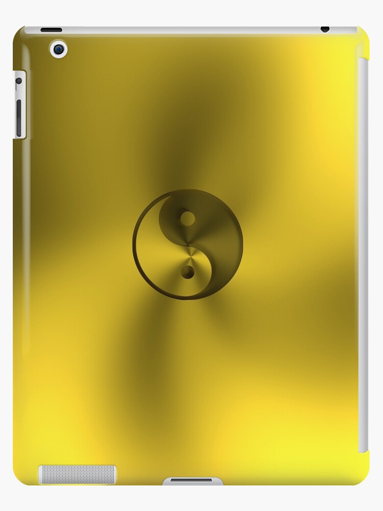 Golden Yin and Yang symbol by Andreas  Berheide