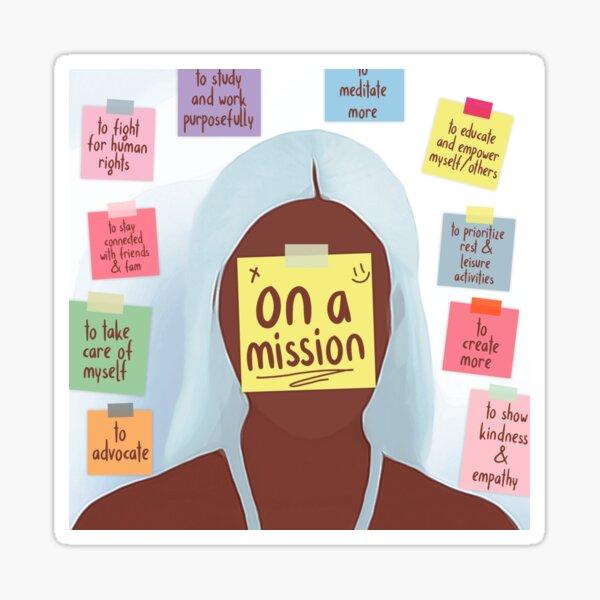 On a Mission Sticker
