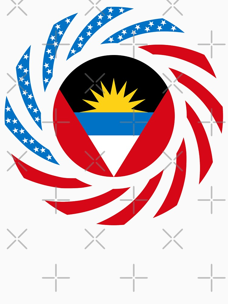 Antigua & Barbuda American Multinational Patriot Flag by carbonfibreme