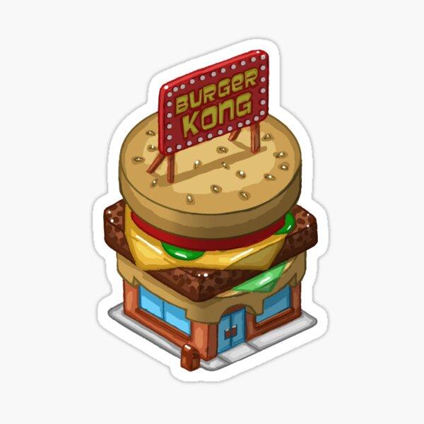 Monsterama Burger Kong Sticker