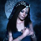 Praying Moon Goddess von Britta Glodde