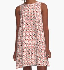 Pattern One in Pink A-Line Dress