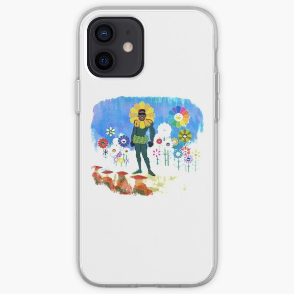 blue flowers people iPhone Soft Case
