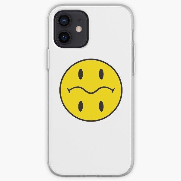 yellow sad smile emoticon iPhone Soft Case