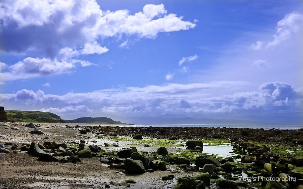 Rocky Beach and Blue Sky by Matt's Photography