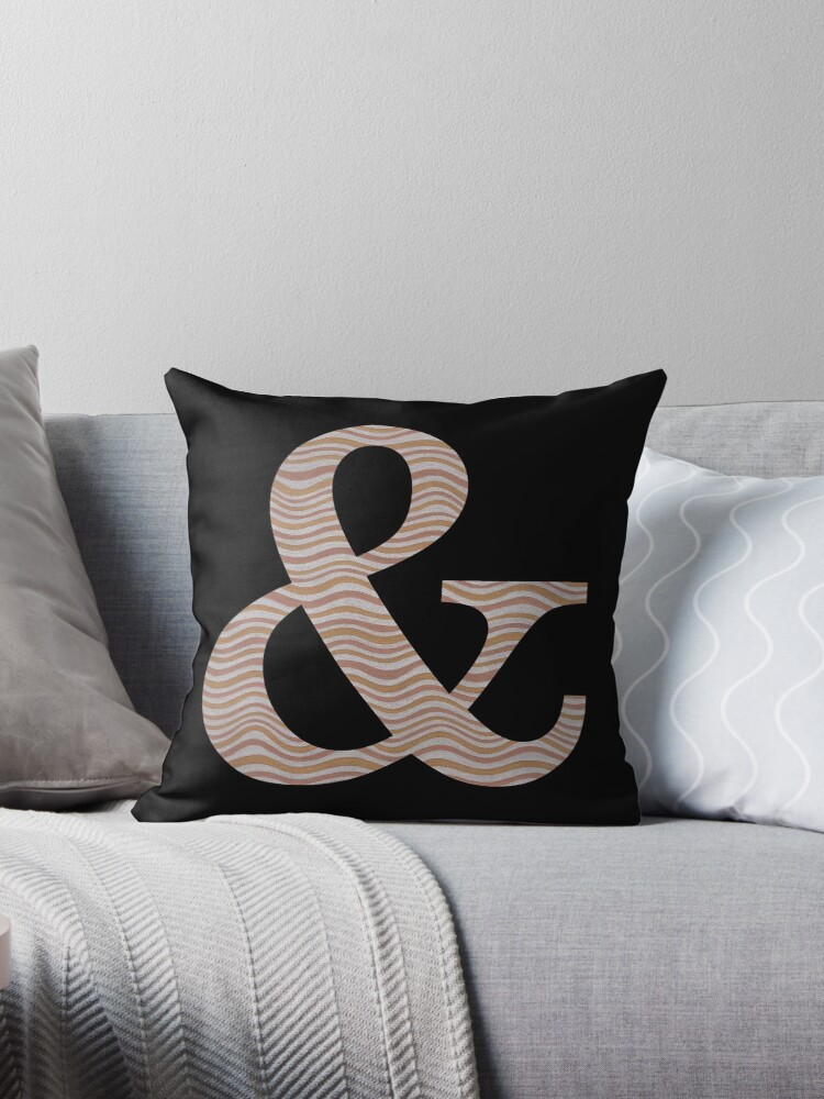 Letter & Ampersand Metallic Look Stripes Silver Gold Copper by theartofvikki