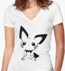 Pichu Women's Fitted V-Neck T-Shirt