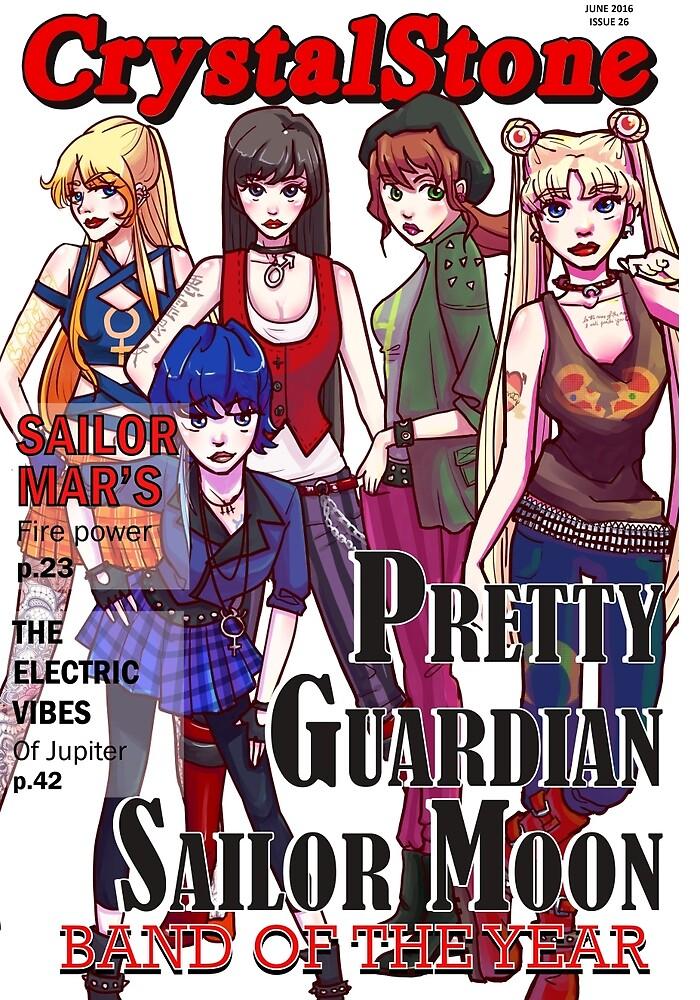 Punk Rock Sailor Scouts Magazine Cover by Nothisispatrick