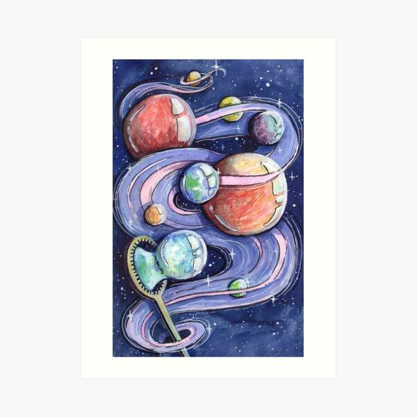 Bubble Planets Art Print