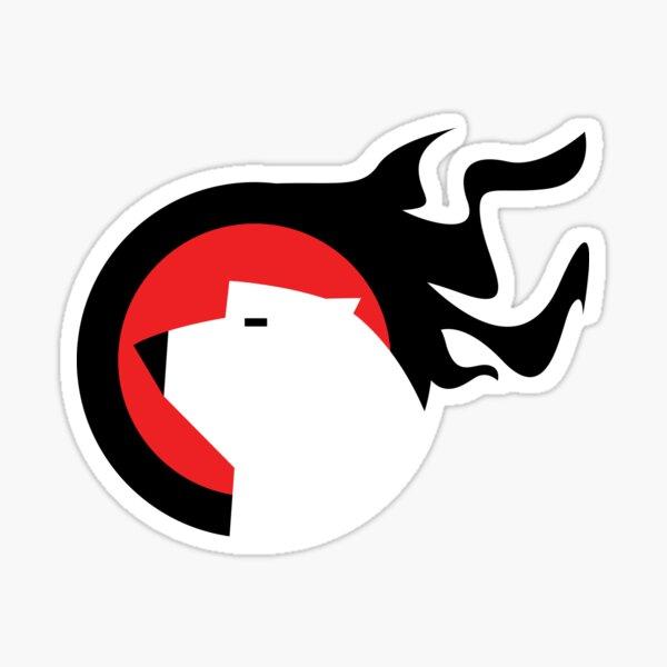 Polar Bear Fire Sticker