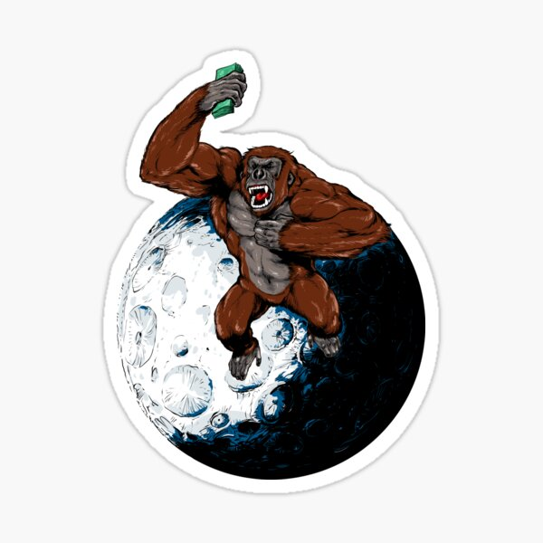AMC ape on the MOON! Sticker