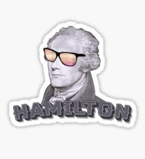 Cool Alexander Hamilton with Sunglasses Sticker