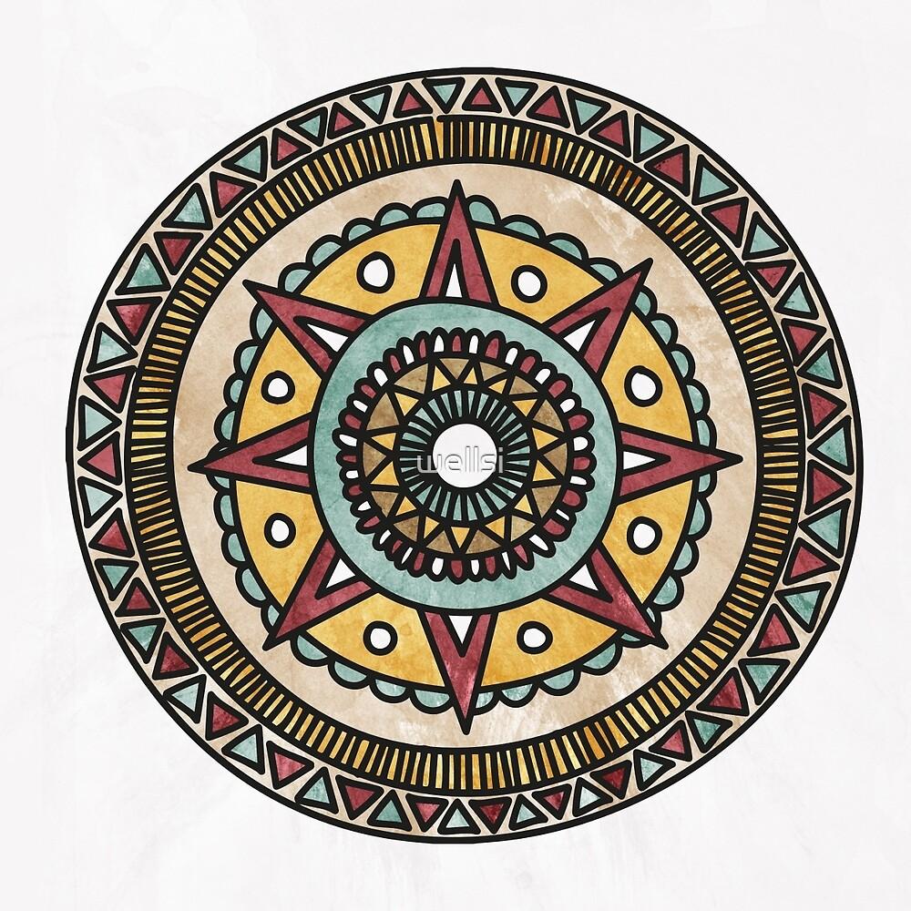 Moonrise Mandala by wellsi