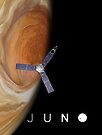 Juno over Great Red Spot by Ray Cassel