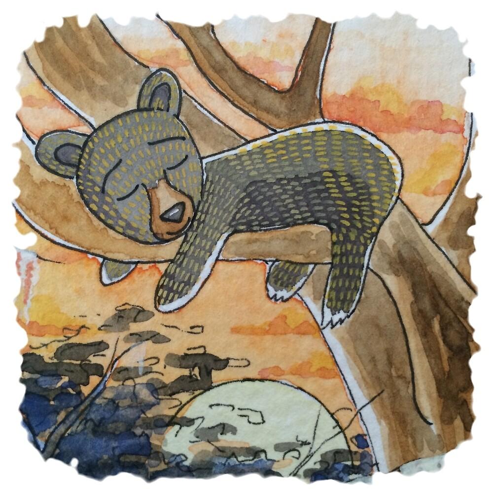 Black Bear Cub by ElizabethBostic