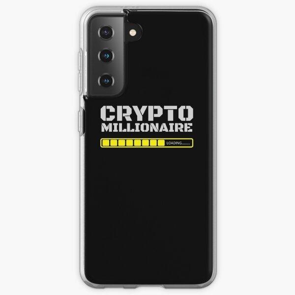 Crypto Millionaire cargando divertida camisa de Bitcoin Funda blanda para Samsung Galaxy