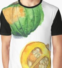 Acorn Squash Painted in Watercolor Graphic T-Shirt