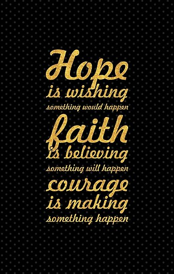 Hope is wishing... Inspirational Quote by Powerofwordss