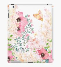 Lush lazy summer afternoon floral watercolor garden iPad Case/Skin