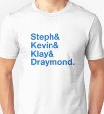 Steph & Kevin & Klay & Draymond Unisex T-Shirt