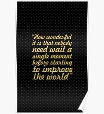 """How wonderful it is... """"Anne Frank"""" Inspirational Quote Poster"""