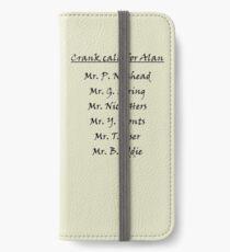 Alan Partridge Crank Calls iPhone Wallet/Case/Skin