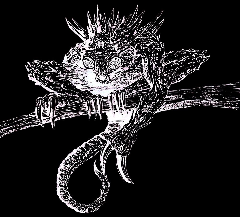 Giik white on black by Stuart Frain by moonatmidnight