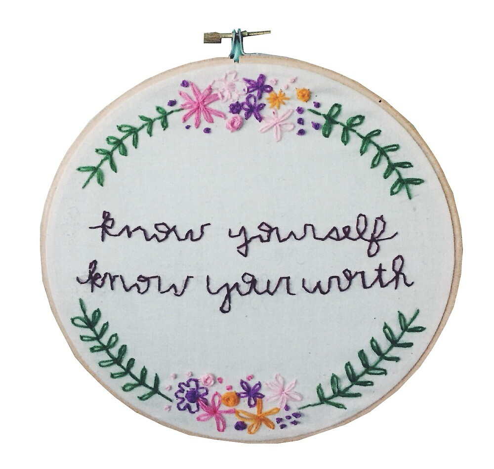know yourself embroidery by nkpeters