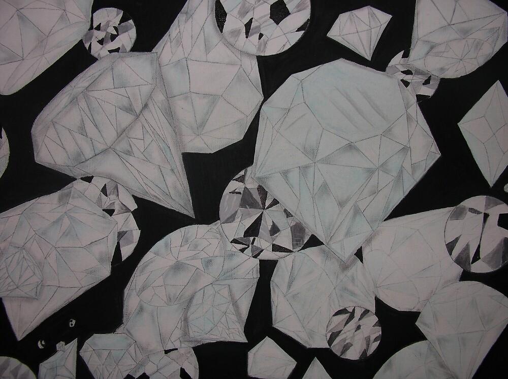 Diamonds Dancing Art by Lukeeffects