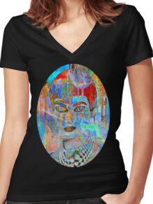 callas in wonderland Women's Fitted V-Neck T-Shirt