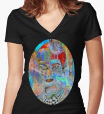 callas in wonderland Women's Fitted V-Neck T-Shirt