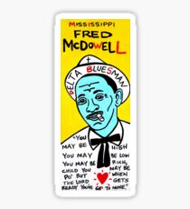 Mississippi Fred McDowell Blues Folk Art Sticker