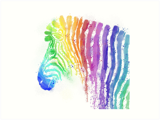 Zebra Painting Illustration by BovaArt