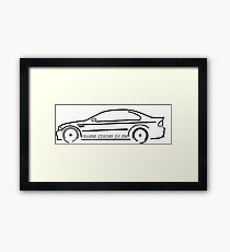 VANOS KICKED IN YO! E46 Framed Print