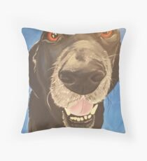 Russell the Black Lab Throw Pillow