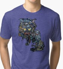 Dragon Cat Color Closeup Tri-blend T-Shirt
